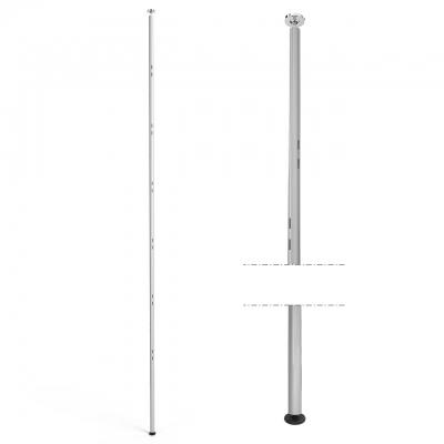 1310 - Piantana soffitto-pavimento, H 3000 mm, tubo tondo cavettato.