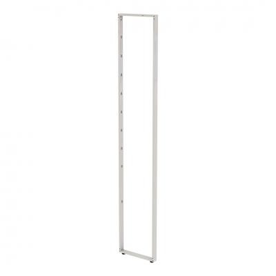 8810 - Elemento spalla verticale h 2400 mm in tubo 50x20 mm, con cave passo 365/182,5 mm.