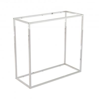 9682C - Espositore a muro 942x392 H 900 mm con perni reggi-ripiani per legno o vetro (ripiani esclusi 400x350 mm). Tubo 20x20x1,2 mm.