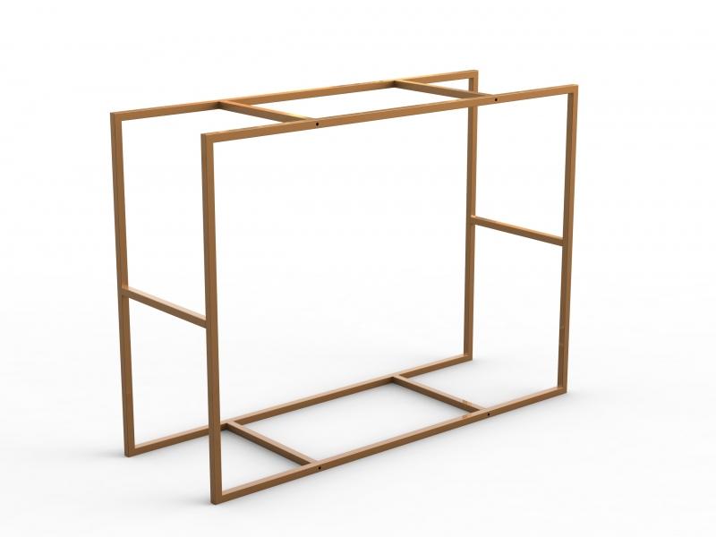 Cua400 tavolo con doppio piano for Tavolo alto usato