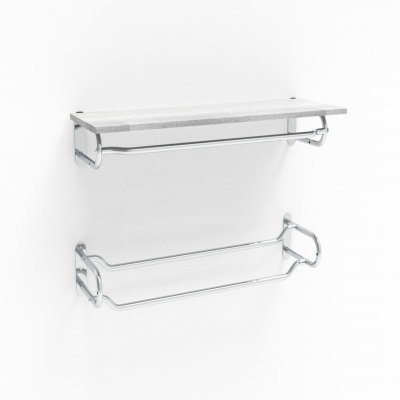 1250 - Wall hanging element with double bar. L.645 mm