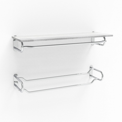 1251 - Wall hanging element with double bar. L.1045 mm