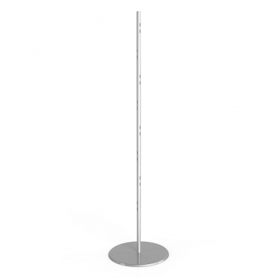 1315 - Floor upright H 1920 mm with round metal sheet base.