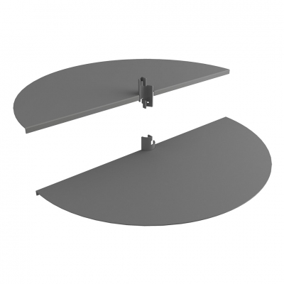 1350DX/SX - Pair of semicircle metal sheet shelves for Round system