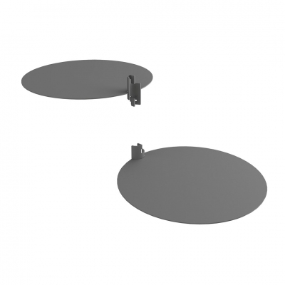 - Pair of round metal sheet shelves for Round system