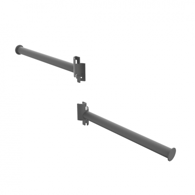 1360DX/SX - Pair of straight exhibit arms for Round system