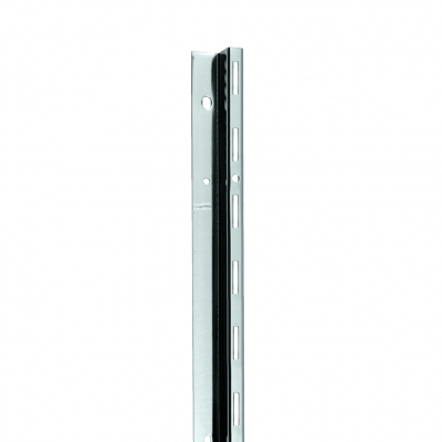 2404 - Metal profile with single slot, terminal element. Pitch 50 mm.