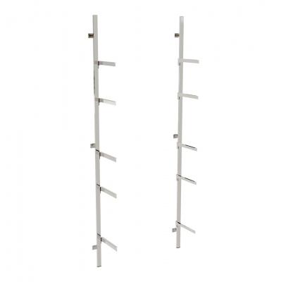2620KIT - Soluzione a parete aderente al muro, completa, con 5 coppie mensole per ripiani (ripiani esclusi).