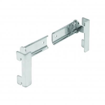 2645DX/SX - Coppia supporti per traversa tubo rettangolare (art. 4000X - 30x10 mm).