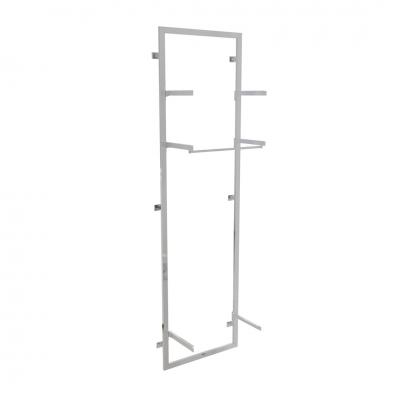2694 KIT - Struttura cornice aderente a muro, completa, con 1 coppia mensole con sotto appenderia e 2 coppie mensole (ripiani esclusi).