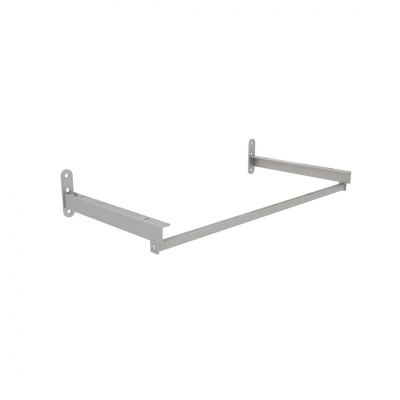 4146C - Pair of shelf brackets with hanging bar L 600 mm