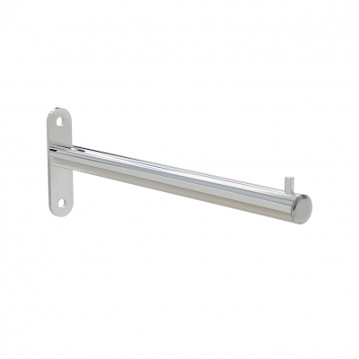 4160 - Straight clothes-hanger arm with direct wall fixing.