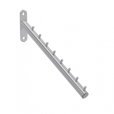 4161 - Inclined clothes-hanger arm with direct wall fixing.