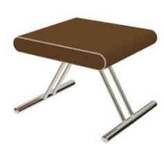 SIT100 - Seduta cromata con sedile in ecopelle - IN ESAURIMENTO