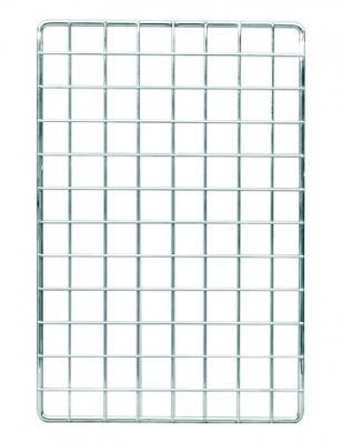 6011 - Pannello griglia 400x400 maglia 50x50 mm, cornice filo semplice. Filo cornice Ø 10 mm, filo maglia Ø 4 mm.