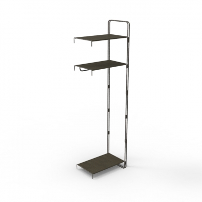 7101E - Extension kit of modular wall shelving-unit, pitch 600.
