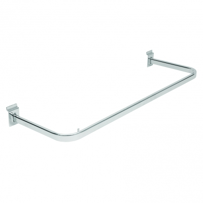8009D - Clothes-hanger bar pitch 600 mm in oval tube 30x15 mm.