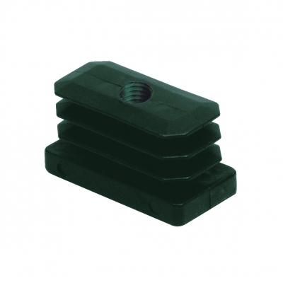 8372 - Piedino rettangolare alettato 40x20 mm con filetto M10.