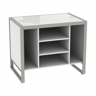 8879A - Small cash desk 1100x700x900 mm complete of wooden part.