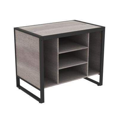 8879D - IN ESAURIMENTO - Banco cassa piccolo 1100x700x900 mm completo di parte in legno