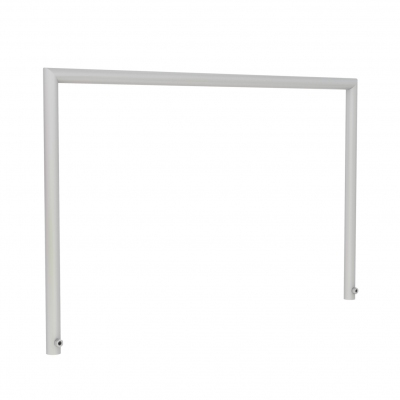 8885 - U-shaped vertical bar for cash desk, in round tube Ø 16 mm.