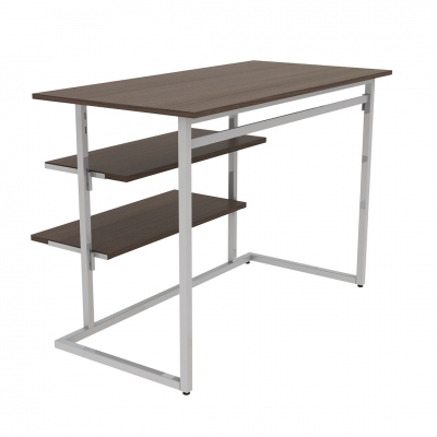 9380B - KIT big table equipped with hanging-bar and shelf brackets for shelves.