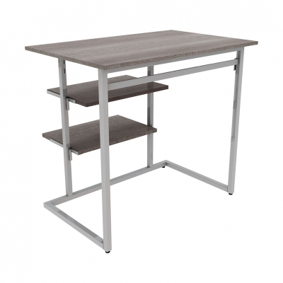 9381B - KIT small table equipped with hanging-bar and shelf brackets for shelves.