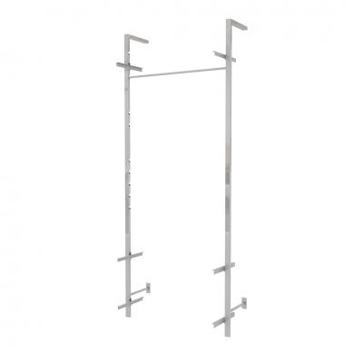 9460B KIT - Soluzione a parete con piantane H 2400 mm.