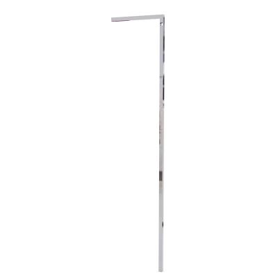 """9600 - Montante """"L"""" muro-terra H 1440 mm con foro per barra appenderia. Tubo 20x20x1,2 mm."""