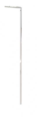 """9600A - Montante """"L"""" muro-terra H 1780 mm con foro per barra appenderia. Tubo 20x20x1,2 mm."""