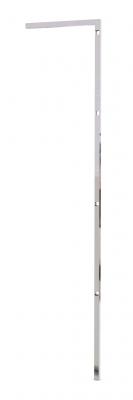 """9601 - Montante """"L"""" muro-terra H 1440 mm con fori per barra appenderia e portaripiani.Tubo 20x20x1,2 mm."""