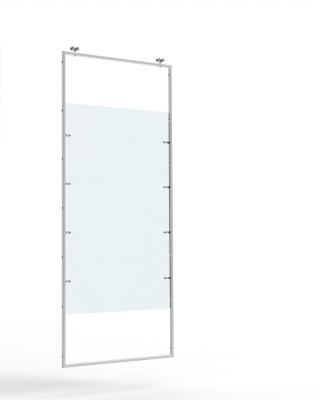 9635BPX - Divisorio scorrevole a cornice completo di pannello in plexiglas