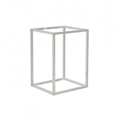9681A - Espositore a muro 442x392 H 600 mm con perni reggi-ripiani per legno o vetro (ripiani esclusi 400x350 mm). Tubo 20x20x1,2 mm.