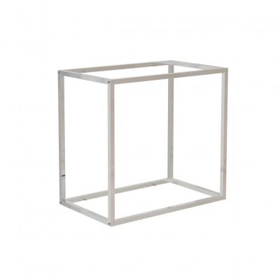 9681B - Espositore a muro 642x392 H 600 mm con perni reggi-ripiani per legno o vetro (ripiani esclusi 400x350 mm). Tubo 20x20x1,2 mm.
