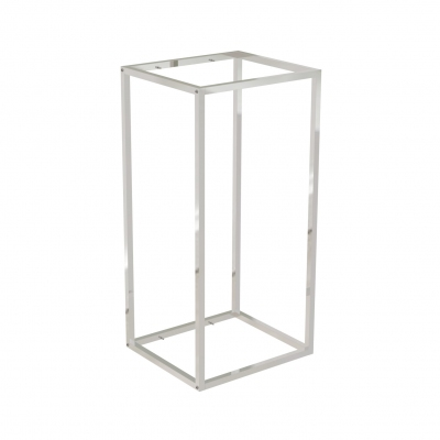 9682A - Wall display 442x392 H 900 mm with shelves supports pins for wooden or glass shelves (shelves excluded 400x350 mm). Tube 20x20x1,2 mm.