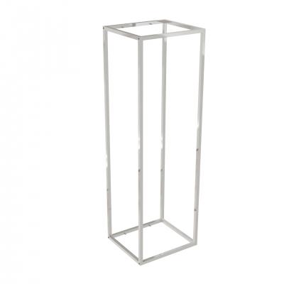 9684A - Espositore a muro 442x392 H 1400 mm con perni reggi-ripiani per legno o vetro (ripiani esclusi 400x350 mm). Tubo 20x20x1,2 mm.
