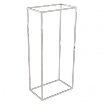 9684B - Espositore a muro 642x392 H 1400 mm con perni reggi-ripiani per legno o vetro (ripiani esclusi 400x350 mm). Tubo 20x20x1,2 mm.