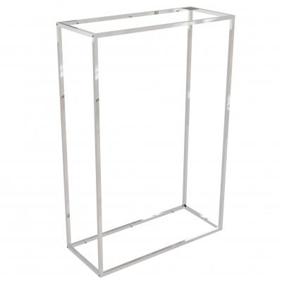 9684C - Espositore a muro 942x392 H 1400 mm con perni reggi-ripiani per legno o vetro (ripiani esclusi 400x350 mm). Tubo 20x20x1,2 mm.