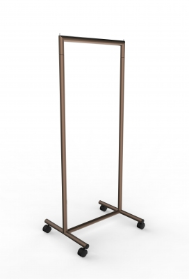 CIC117 - Garment rail with fixed height in tube 脴35 mm and 60 cm wide