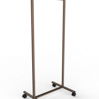 CIC117 - Garment rail with fixed height in tube Ø35 and 60 cm wide