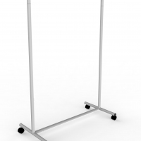 CIC118 - Garment rail with fixed height in tube Ø35 mm and 100 cm wide.