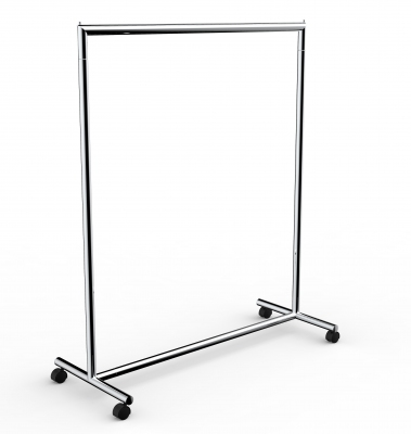 CIC119 - Garment rail with fixed height in tube 脴35 mm and 120 cm wide