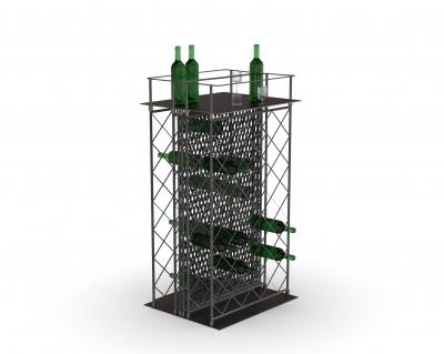 MGT501 - Espositore per vino a due lati
