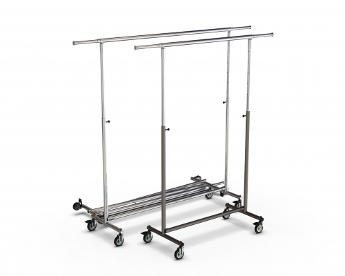 CIC065R - Height-adjustable folding clothes stand in tube 脴35, 100cm wide