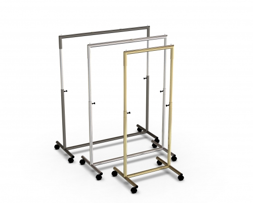 CIC118R - Height-adjustable garment rail in tube Ø35 mm and 100 cm wide