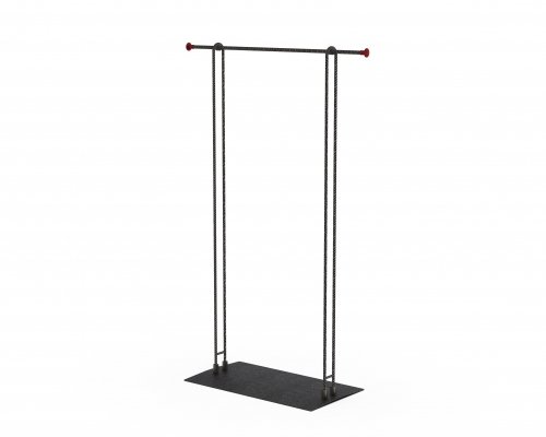 MGT085 - Garment rail with fixed height 90 cm wide.