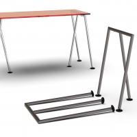 CIC440 - Coppia di cavalletti pieghevoli per tavoli