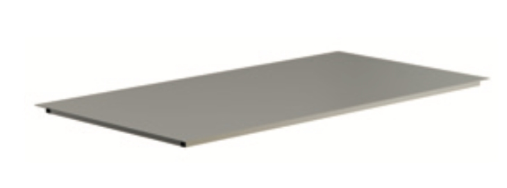TABB200 - Laquered metal sheet shelf with frame in tube