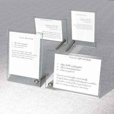 SOS002 - Card-holder A5 size with 2 plexiglass sheets