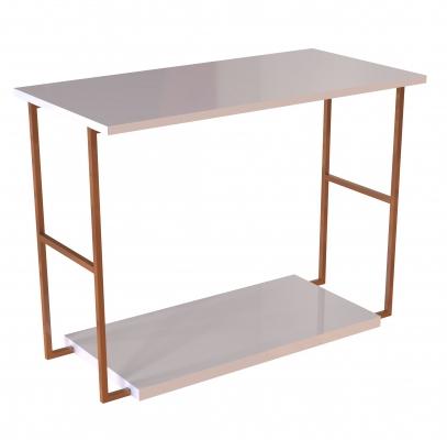 CUA400L - Tavolo alto con doppio piano